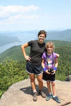 Camp girl and staffer near Adirondack Camp