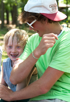 Counselors encourage, protect, and nurture campers all throughout the summer.