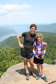 Camp girl and staffer near Adirondack Camp