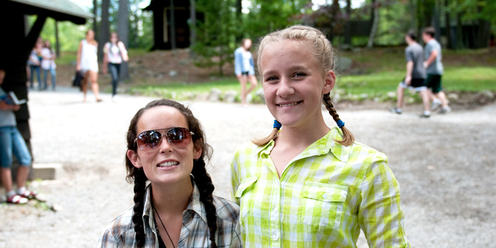 Girls dressed up for a special day at ADK
