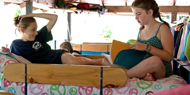 Girls summer camp cabin