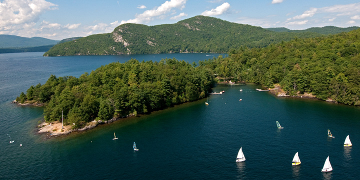 The beauty of Lake George sets ADK apart as one of the finest summer camps for kids