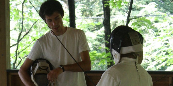 Fencing Instruction at Overnight Camp